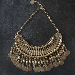 Revolve Gold Coin Statement Bib Necklace
